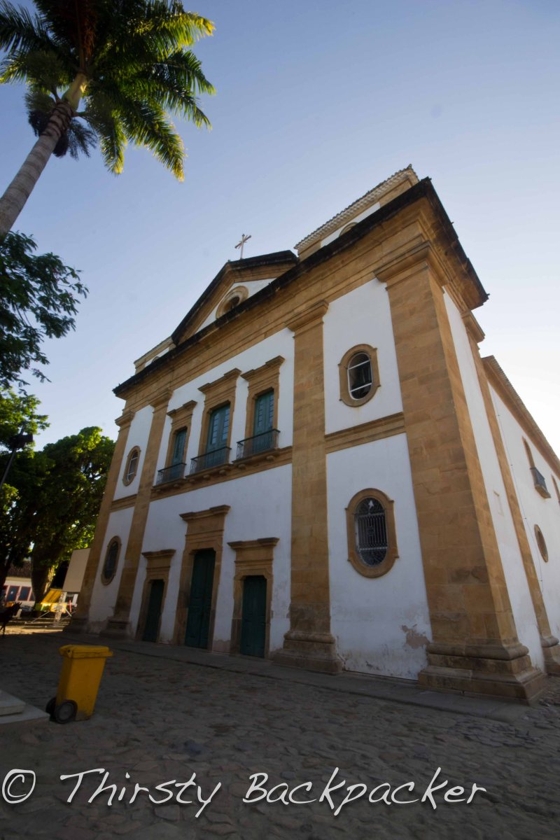 One of the many churches in Historical Paraty.