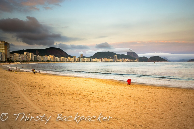 Copacabana Beach. Spent a few hours down here. Read - days.